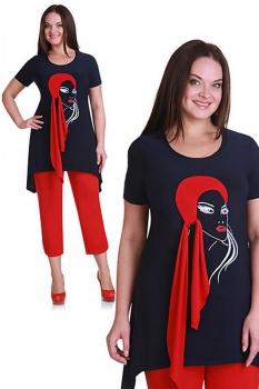 Комплект Andrea Style 1111-1 сине-красный
