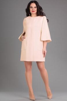 Пальто Andrea Style 4067 пудра