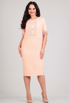 Платье Andrea Style 4077-2 розовые-тона