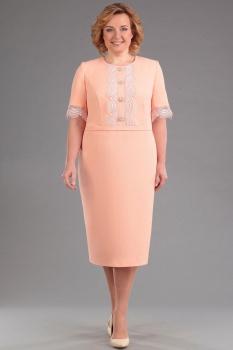 Платье Andrea Style 4077 персиковый