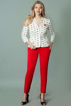 Комплект Andrea Style 4079 молочно-красный