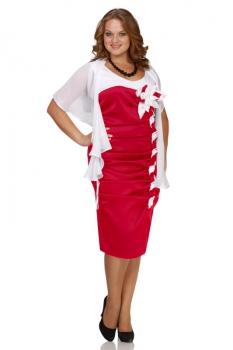 Платье Andrea Style 691 красные тона