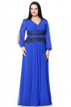 Платье Andrea Style 8020 васильковый