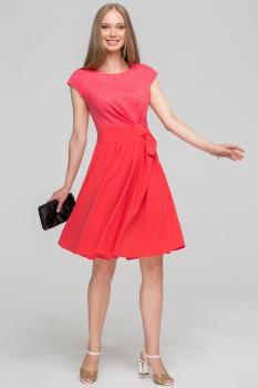 Платье Anna 812 розовые тона