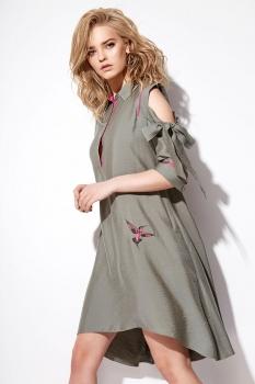 Платье Anna Majewska 1026 олива