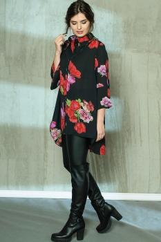 Блузка Anna Majewska 1036-1 красный с розовым