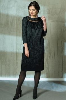 Платье Anna Majewska 1067 темные тона
