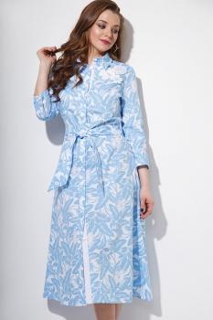 Платье Anna Majewska 1077-1 голубой