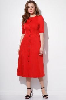Платье Anna Majewska 1101-2 красный