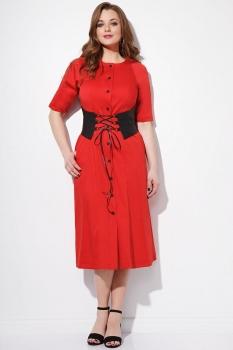 Платье Anna Majewska 1101-3 красный