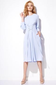 Платье Anna Majewska 1171-1 голубой