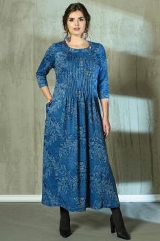Платье Anna Majewska 1903-2 оттенки синего.