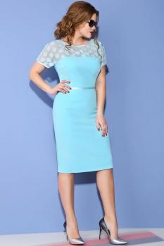 Платье Anna Majewska 993-2 голубые тона