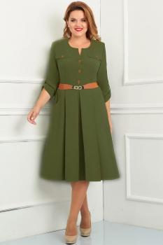Платье Асолия 2331-2 хаки