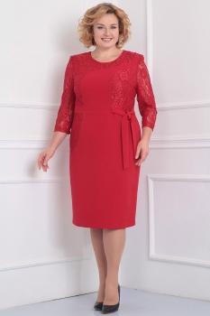Платье Асолия 2342 малиновый оттенок