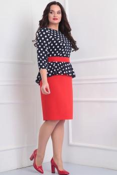 Платье Асолия 2345-1 красный