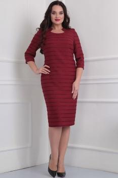Платье Асолия 2347 бордовый оттенок