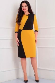 Платье Асолия 2351 черный+желтый