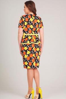 Платье Асолия 2356Л красный+желтый - фото 2