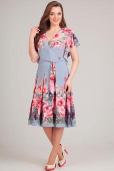 Платье Асолия 2361-1 серо-голубой