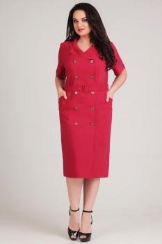 Платье Axxa 54026 бордо