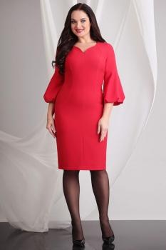 Платье Axxa 54028а-1 оттенки красного