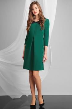Платье Axxa 54031-1 оттенки зеленого