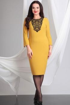 Платье Axxa 54054 оттенки желтого