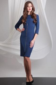 Платье Axxa 54058 оттенки синего