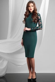 Платье Axxa 54062 оттенки зеленого