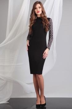 Платье Axxa 54062а темные тона