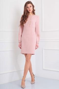 Платье Axxa 54064-1 розовые тона