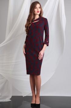Платье Axxa 54066 с красным