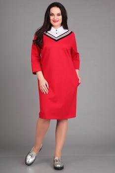 Платье Axxa 54080 оттенки красного