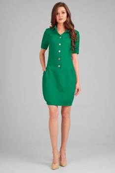 Платье Axxa 54086-2 оттенки зеленого