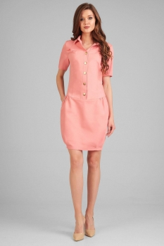 Платье Axxa 54086-3 персик
