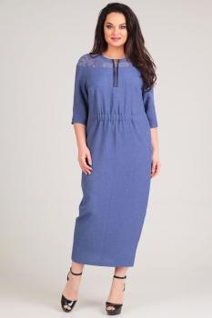 Платье Axxa 54090 синие тона