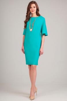 Платье Axxa 54091 бирюзовые тона