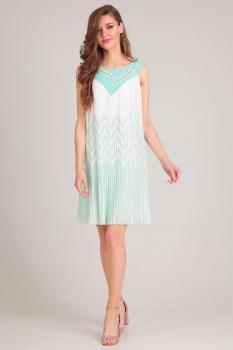 Платье Axxa 54094 с бирюзой