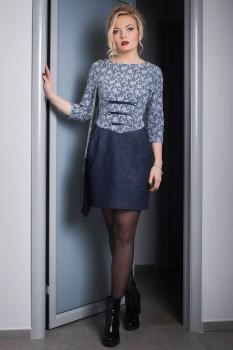 Платье Azzara 236Д серые тона