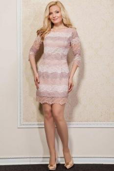 Платье Azzara 336Б с бежевым