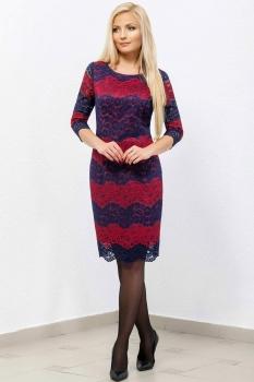 Платье Azzara 336В синий+красный