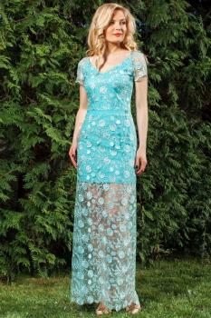 Платье Azzara 411Д бирюзовые тона