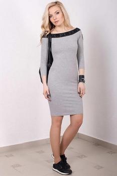 Платье Azzara 412С серые тона