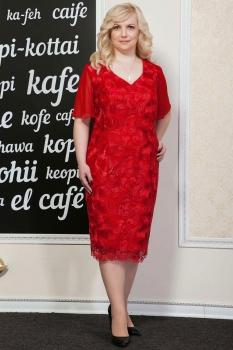 Платье Azzara 417к красные тона