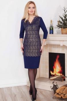 Платье Azzara 456 темно-синий