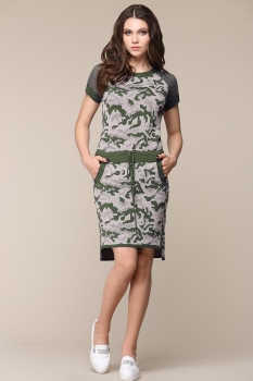 Платье Barbara Geratti By Elma 2609 хаки