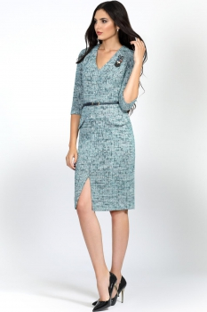 Платье Bazalini 2849 Серо-голубые тона