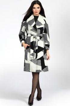 Пальто Bazalini 2874 Черно-белый