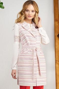 Жилет Bazalini 3035-1 Бело-розовый